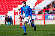 Portsmouth forward Oliver Hawkins (9)  during the EFL Sky Bet League 1 match between Accrington Stanley and Portsmouth at the Fraser Eagle Stadium, Accrington, England on 27 October 2018.