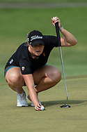 Olivia Mahaffey (a)(NIR) lines up her putt on 2 during round 2 of the 2020 ANA Inspiration, Mission Hills C.C., Rancho Mirage, California, USA. 9/11/2020.<br /> Picture: Golffile | Ken Murray<br /> <br /> All photo usage must carry mandatory copyright credit (© Golffile | Ken Murray)