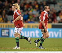 18 June 2013; Rory Best, British & Irish Lions, right, is replaced by Richard Hibbard during the second half. British & Irish Lions Tour 2013, Brumbies v British & Irish Lions. Canberra Stadium, Bruce, Canberra, Australia. Picture credit: Stephen McCarthy / SPORTSFILE