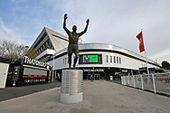 General view outside Ashton Gate Stadium of the John Atyeo statue before the The FA Cup 5th round match between Bristol City and Wolverhampton Wanderers at Ashton Gate, Bristol, England on 17 February 2019.