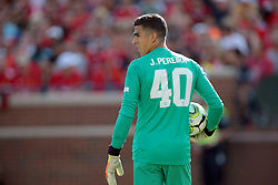 July 28, 2018 - Ann Arbor, Michigan, United States - Goalkeeper Joel Dinis Castro Pereira of Manchester United looks up the field during an International Champions Cup match between Manchester United and Liverpool at Michigan Stadium in Ann Arbor, Michigan USA, on Wednesday, July 28,  2018. (Credit Image: © Amy Lemus/NurPhoto via ZUMA Press)