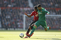 Football - 2018 / 2019 Premier League - Manchester United vs. Watford<br /> <br /> <br /> Marcus Rashford of Manchester United tussles with Miguel Angel Britos of Watfordl, at Old Trafford<br /> <br /> COLORSPORT/ALAN MARTIN