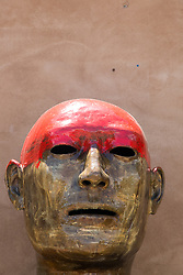 sculpture of a face found in New Mexico