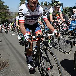 20-04-2016: Wielrennen: Waalse Pijl vrouwen: Huy    <br />HUY (BEL) cycling    <br />The Fleche Wallomne is the last springrace in the Womens Worldtour.  Peloton on the first climb Mur de Huy. Ashley Moolman