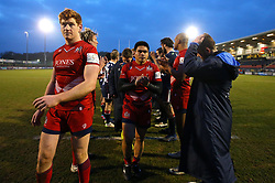 David Lemi of Bristol Rugby and Jack Tovey of Bristol Rugby go through a guard of honour after their side beat Doncaster Knights in the B&I Cup - Mandatory by-line: Robbie Stephenson/JMP - 13/01/2018 - RUGBY - Castle Park - Doncaster, England - Doncaster Knights v Bristol Rugby - B&I Cup