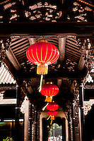 Red Lanterns in a corridor inside the Chen Family Ancestral Temple in Guangzhou.