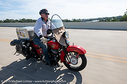 Roger Green riding his 1937 Harley-Davidson ULH Flathead in the Cross Country Chase motorcycle endurance run from Sault Sainte Marie, MI to Key West, FL. (for vintage bikes from 1930-1948). 287 mile ride of Stage-8 from Tallahassee to Lakeland, FL USA. Friday, September 13, 2019. Photography ©2019 Michael Lichter.