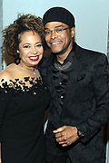 NEW YORK, NEW YORK- FEBRUARY 11: (L-R) Deryl McKissack Daniel (Honoree) and Recording Artist Maxwell attend the National CARES Mentoring Movement 'FOR THE LOVE OF OUR CHILDREN' Gala Inside held at the Zeigfeld Ballroom on February 11, 2019 in New York City.  (Photo by Terrence Jennings/terrencejennings.com)