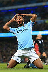 9th January 2018 - Carabao Cup (Semi Final) - 1st Leg - Manchester City v Bristol City - Raheem Sterling of Man City looks dejected - Photo: Simon Stacpoole / Offside.