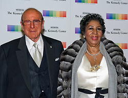 Clive Davis and Aretha Franklin arrive for the formal Artist's Dinner honoring the recipients of the 38th Annual Kennedy Center Honors hosted by United States Secretary of State John F. Kerry at the U.S. Department of State in Washington, DC, USA, on Saturday, December 5, 2015. The 2015 honorees are: singer-songwriter Carole King, filmmaker George Lucas, actress and singer Rita Moreno, conductor Seiji Ozawa, and actress and Broadway star Cicely Tyson. Photo by Ron Sachs/Pool/ABACAPRESS.COM