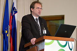 President of NZS mag. Ivan Simic at Management conference of Slovenian Football Federation, on March 10, 2009, in Hotel Kokra, Brdo pri Kranju, Slovenia. (Photo by Vid Ponikvar / Sportida)