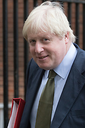 Downing Street, London, December 13th 2016. Foreign and Commonwealth Secretary Boris Johnson leaves the weekly meeting of the cabinet at Downing Street, London.