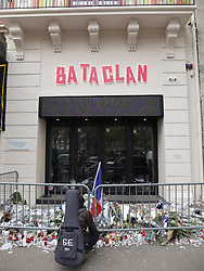 November 14, 2016 - Paris, France, France - Plaque en hommage des victimes des attaques du 13/11/2015 au Bataclan (Credit Image: © Panoramic via ZUMA Press)
