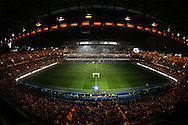 a general view as Stamford Bridge puts on a light display before k/o. Premier league match, Chelsea v Tottenham Hotspur at Stamford Bridge in London on Saturday 26th November 2016.<br /> pic by John Patrick Fletcher, Andrew Orchard sports photography.