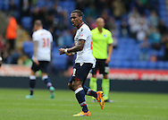 Bolton Wanderers midfielder Neil Danns scores and celebrates during the Sky Bet Championship match between Bolton Wanderers and Brighton and Hove Albion at the Macron Stadium, Bolton, England on 26 September 2015.