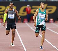 Wayde van Niekerk RSA Winner 400m Men   <br /> Roma 02-06-2016 Stadio Olimpico.<br /> IAAF Diamond League 2016<br /> Atletica Legera <br /> Golden Gala Meeting - Track and Field Athletics Meeting<br /> Foto Cesare Purini / Insidefoto