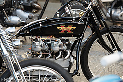 Invited builder Randy Hayward's custom 1925 Henderson 4-cylinder at the Stampede pre-Born Free gathering and races in the City of Industry, CA, USA. Thursday, June 20, 2019. Photography ©2019 Michael Lichter.