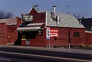 CS02991. Burger Barn 3962 NE Union, @ Shaver. Feb. 7, 1974 site of notorious Possum incident. (now  Christopher's Gourmet Grill)