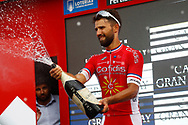 Podium, Champagne, Nacer Bouhanni (FRA - Cofidis) winner, during the UCI World Tour, Tour of Spain (Vuelta) 2018, Stage 6, Huercal Overa - San Javier Mar Menor 155,7 km in Spain, on August 30th, 2018 - Photo Luca Bettini / BettiniPhoto / ProSportsImages / DPPI