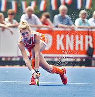 ARNHEM - Willemijn Bos, donderdag tijdens de oefenwedstrijd tussen de vrouwen van Nederland en Zuid Afrika. COPYRIGHT KOEN SUYK