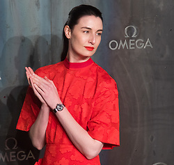 Tate Modern, London, April 26th 2017. Erin O'Connor arrives at the Tate Modern in London for the 'Lost In Space' 60th anniversary event for the Omega Speedmaster watch.