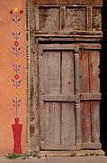 Painted door, Santa Fe, New Mexico