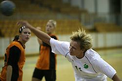 Katja Cerenjak of Olimpija at  handball game between women team RK Olimpija vs ZRK Brezice at 1st round of National Championship, on September 13, 2008, in Arena Tivoli, Ljubljana, Slovenija. Olimpija won 41:17. (Photo by Vid Ponikvar / Sportal Images)