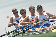 Beijing, CHINA, GBR JM4-, Bow Jack MORRISSEY, Matthews ROSSITTER, Goerge NASH and Keiren EMERY, during the  2007. FISA Junior World Rowing Championships Shunyi Water Sports Complex. Wed. 08.08.2007  [Photo, Peter Spurrier/Intersport-images]..... , Rowing Course, Shun Yi Water Complex, Beijing, CHINA,