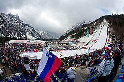 View on the hill during Large Hill Team Competition at 3rd day of FIS Ski Jumping World Cup Finals Planica 2014, on March 22, 2014 in Planica, Slovenia. Photo by Matic Klansek Velej/ Sportida