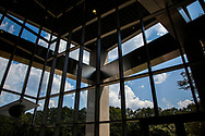 The lobby of the National High Magnetic Field Laboratory in Innovation Park in Tallahassee, Florida.