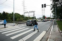 June 21, 2017 - Semáforo quebrado na alça de acesso à marginal Pinheiros, sentido Interlagos, altura da ponte da Cidade Universitária. (Credit Image: © Aloisio Mauricio/Fotoarena via ZUMA Press)