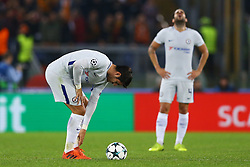 October 31, 2017 - Rome, Italy - Alvaro Morata of Chelsea and Fabregas of Chelsea after the goal of 3-0  during the UEFA Champions League football match AS Roma vs Chelsea on October 31, 2017 at the Olympic Stadium in Rome. (Credit Image: © Matteo Ciambelli/NurPhoto via ZUMA Press)