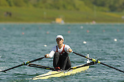 Munich, GERMANY, BUL W1X, Rumyana  NEYKOVA, during the FISA World Cup at the Munich Olympic Rowing Course, Thur's.  08.05.2008  [Mandatory Credit Peter Spurrier/ Intersport Images] Rowing Course, Olympic Regatta Rowing Course, Munich, GERMANY