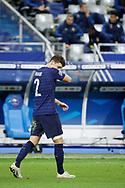 Benjamin Pavard (FRA) reacted after scored a goal during the UEFA Nations League football match between France and Sweden on November 17, 2020 at Stade de France in Saint-Denis, France - Photo Stephane Allaman / ProSportsImages / DPPI