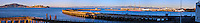 United States, California, San Francisco. Panorama from Fort Mason. Alcatraz in the background.