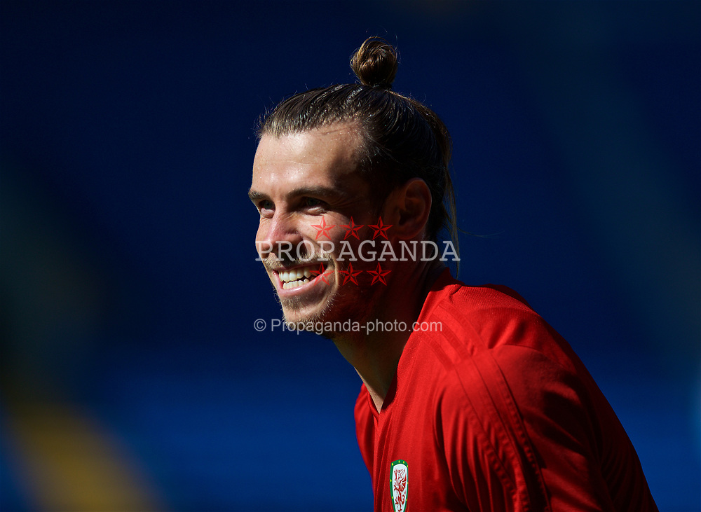 CARDIFF, WALES - Wednesday, September 5, 2018: Wales' Gareth Bale during a training session at the Cardiff City Stadium ahead of the UEFA Nations League Group Stage League B Group 4 match between Wales and Republic of Ireland. (Pic by David Rawcliffe/Propaganda)