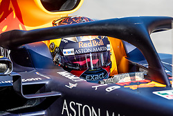 February 18, 2019 - Barcelona, Spain - Max Verstappen of Aston Martin RedBull Racing during afternoon session of the first day of F1 Test Days in Montmelo circuit, Spain, on February 18, 2019  (Credit Image: © Javier MartíNez De La Puente/NurPhoto via ZUMA Press)