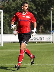 FODBOLD: Debuterende målmand Stefan Campagnolo (Helsingør) under kampen i Danmarksserien, pulje 1, mellem Elite 3000 Helsingør og B.1903 den 20. september 2009 på Helsingør Stadion. Foto: Claus Birch