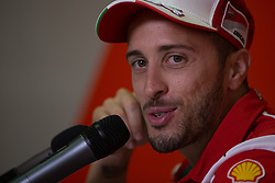 September 7, 2017 - San Marino, RN, Italy - Andrea Dovizioso of Ducati Team during the presentation press conference of the Tribul Mastercard Grand Prix of San Marino and Riviera di Rimini, at Misano World Circuit ''Marco Simoncelli'', on September 07, 2017 in Misano Adriatico, Italy  (Credit Image: © Danilo Di Giovanni/NurPhoto via ZUMA Press)