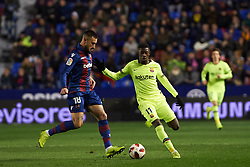 January 10, 2019 - Valencia, Valencia, Spain - Erick Cabaco of Levante UD and Ousmane Dembele of FC Barcelona during the Spanish Copa del Rey match between Levante and Barcelona at Ciutat de Valencia Stadium on Jenuary 10, 2019 in Valencia, Spain. (Credit Image: © AFP7 via ZUMA Wire)