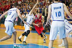 Dzordze Lelic of Tajfun during basketball match between KK Rogaska and KK Tajfun in 3rd Round of Final of Slovenian National Basketball Championship 2014/15, on May 26, 2015 in Sportna dvorana, Rogaska Slatina, Slovenia. Photo by Ziga Zupan / Sportida