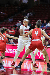 NORMAL, IL - December 04: Simone Goods during a college women's basketball game between the ISU Redbirds  and the Austin Peay Governors on December 04 2018 at Redbird Arena in Normal, IL. (Photo by Alan Look)