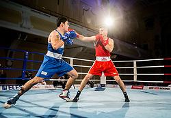 Leonardo Bonura of Italy (BLUE) fights against Andrej Bakovic of Slovenia (RED) in Elite 75 kg Category during Dejan Zavec Boxing Gala event in Ljubljana, on March 11, 2017 in Grand Hotel Union, Ljubljana, Slovenia. Photo by Vid Ponikvar / Sportida