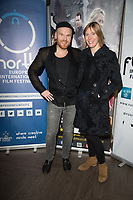 Philip Baldwin, Anna Winslet at  the Ask the Cheat film screening. Crowne Plaza London Docklands.