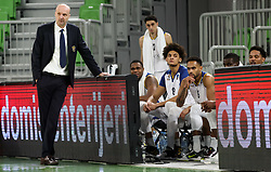Jure Zdovc, head coach of Boulogne Metropolitans 92 during basketball match between KK Partizan NIS Belgrade (SRB) and Boulogne Metropolitans 92 (FRA) in Top 16 Round 6 of 7DAYS Eurocup 2020/21, on March 10, 2021 in Arena Stozice, Ljubljana, Slovenia. Photo by Vid Ponikvar / Sportida