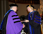 Robert O'Keefe, Professor, Department of Marketing, receives the Spirit of Inquiry Award during DePaul University's Academic Convocation Friday, Sept. 5, 2014 held on the Lincoln Park Campus at the St. Vincent de Paul Parish.  (DePaul University/Jamie Moncrief)