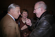 David Attenborough, Joan Bakewell and Clive James. The Oldie Of The Year Awards,  Simpsons in the Strand, London. 22 March 2005. ONE TIME USE ONLY - DO NOT ARCHIVE  © Copyright Photograph by Dafydd Jones 66 Stockwell Park Rd. London SW9 0DA Tel 020 7733 0108 www.dafjones.com