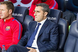 May 6, 2018 - Barcelona, Catalonia, Spain - FC Barcelona manager Ernesto Valverde during the match between FC Barcelona v Real Madrid, for the round 36 of the Liga Santander, played at Camp nou  on 6th May 2018 in Barcelona, Spain. (Credit Image: © Urbanandsport/NurPhoto via ZUMA Press)