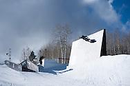 Henrik Harlaut during Ski Slopestyle Practice during 2015 X Games Aspen at Buttermilk Mountain in Aspen, CO. ©Brett Wilhelm/ESPN