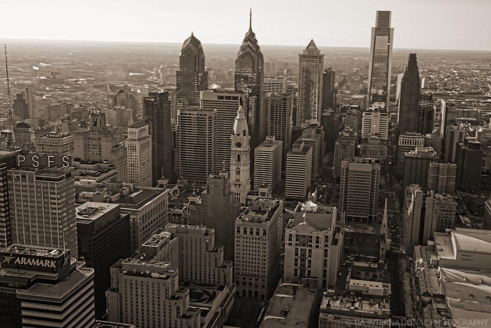 Aerial View, Center City Skyline, Philadelphia